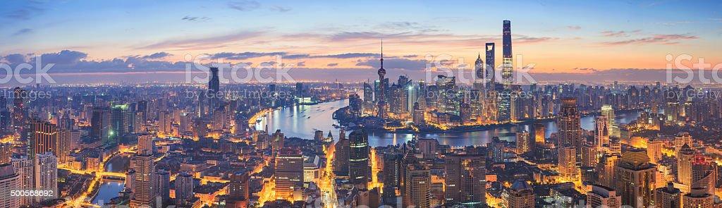 Panoramaausblicke auf die skyline von Shanghai – Foto