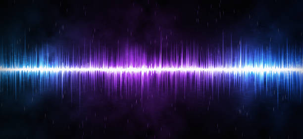 Panoramic Sound Wave Background stock photo