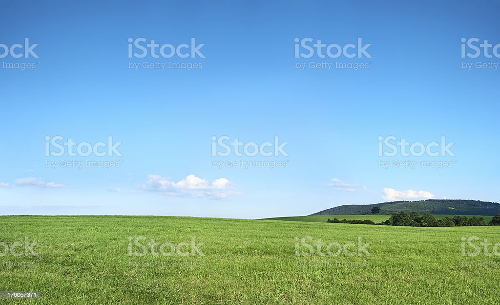 Panoramic spring landscape 92MPix XXXXL size - highlands, blue sky royalty-free stock photo