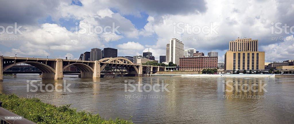 Panoramic St. Paul, Minnesota, USA. stock photo