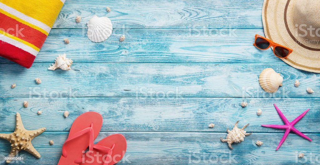 Panoramic summer background stock photo