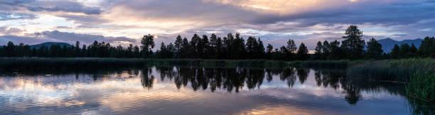 Panoramic Sunset stock photo