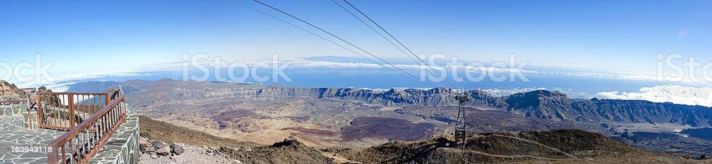 Panoramic Teide royalty-free stock photo