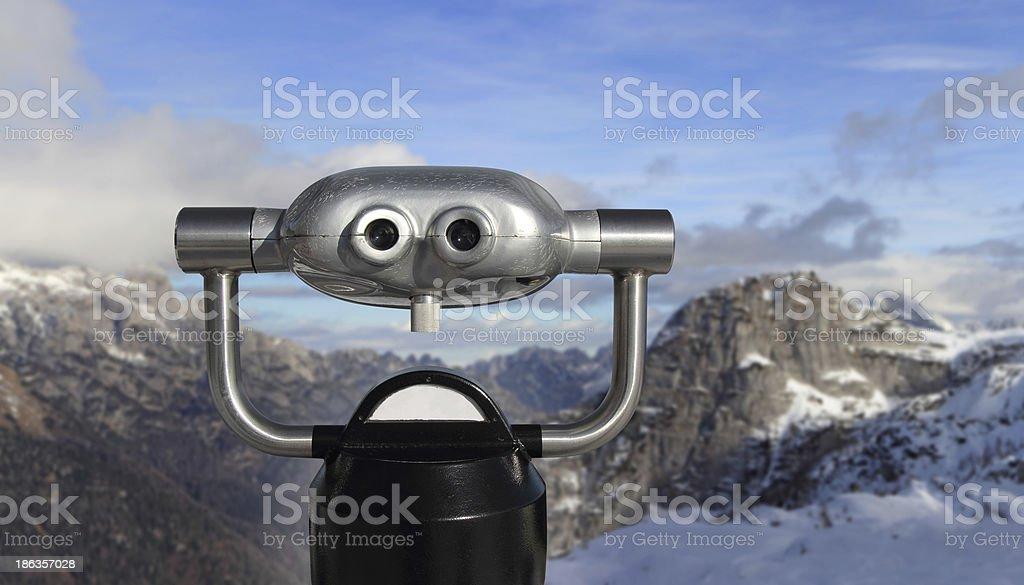 Panoramic telescope stock photo