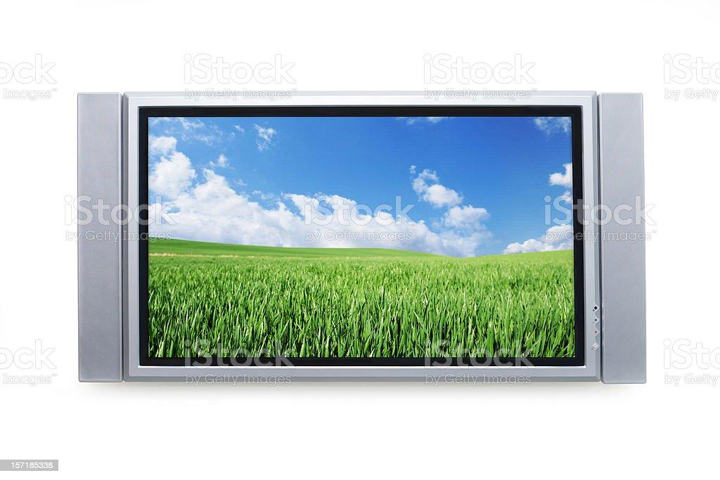 Panoramic TV royalty-free stock photo