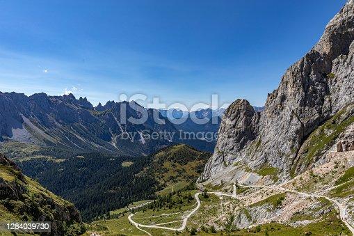 istock Panoramic view above Val Sesis, Monte Peralba, Sappada (UD), FVG region, Italy. 1284039730
