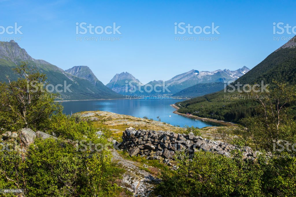 Panoramablick auf den Lofoten, Norwegen – Foto