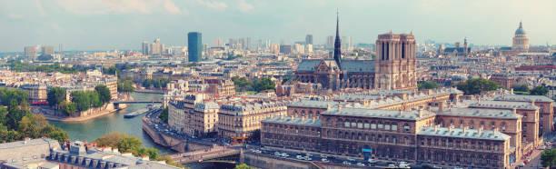 Panoramablick auf Notre Dame – Foto