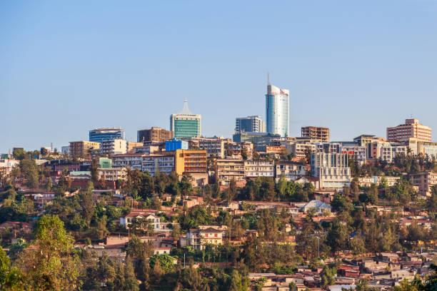 Panoramablick auf Bussiness Stadtteil von Kigali, Ruanda, 2016 – Foto