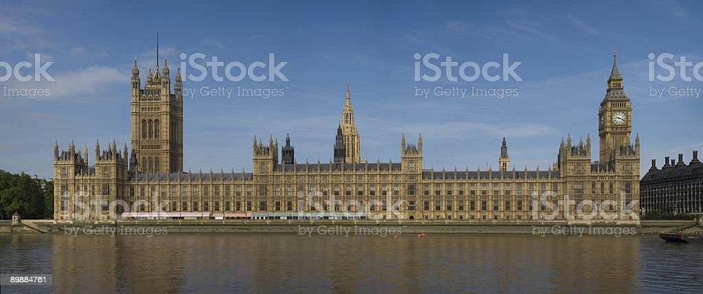 Panoramic view at the Houses of Parliament royalty-free stock photo