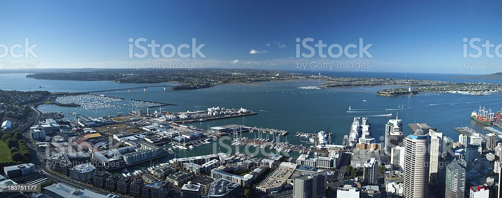Panoramic view Auckland, New Zealand stock photo