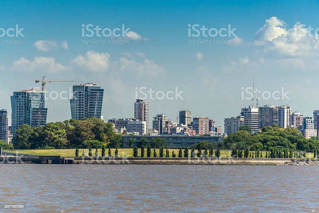 Panoramic View, Buenos Aires City , Rio de la Plata stock photo