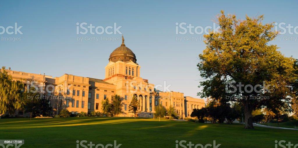 Panoramic View Capital Dome Helena Montana State Building stock photo