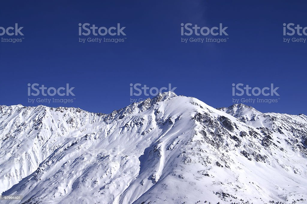 Panoramic view. Elbrus Region. royalty-free stock photo