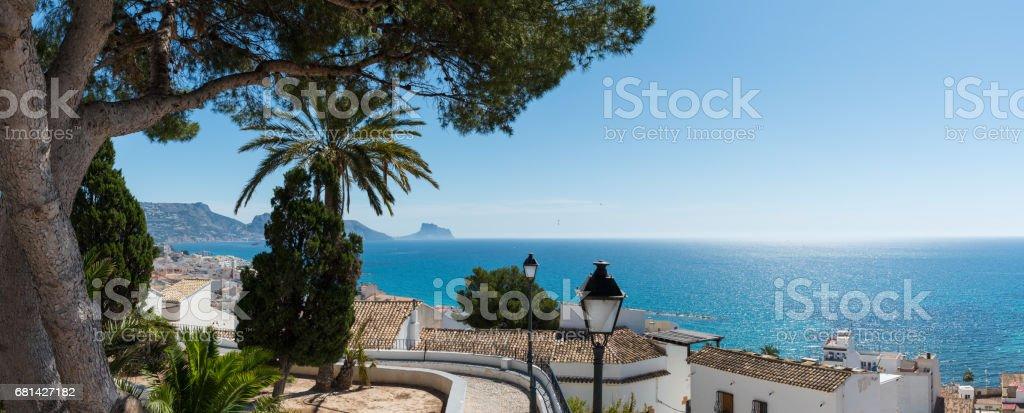 Panoramic view from Altea - foto de stock