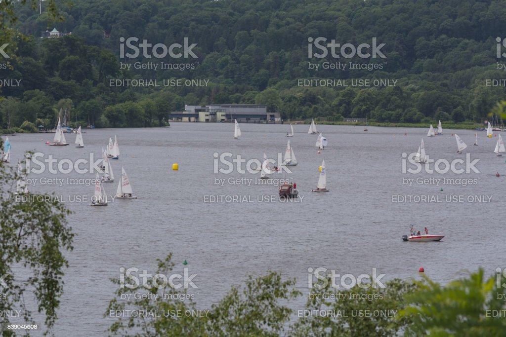 Panoramablick vom Baldeney See (Baldeneysee) – Foto