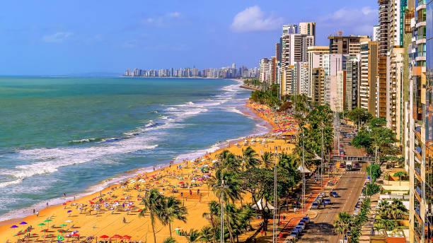 Panoramablick vom Boa Viagem Strand – Foto