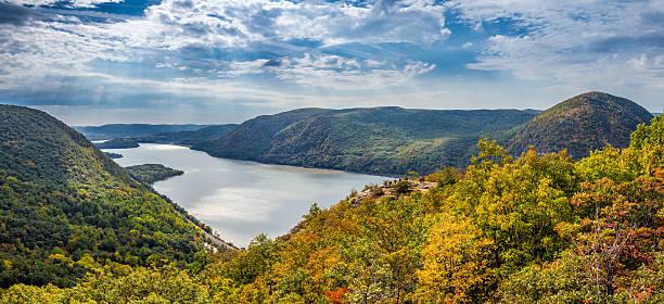 Panoramic view from Breakneck Ridge stock photo