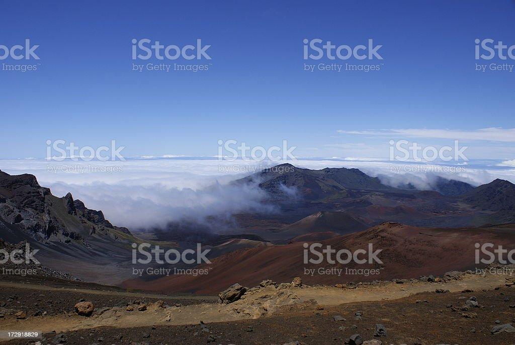 Panoramic View from Haleakala Volcano on Maui stock photo