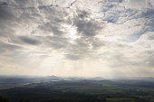 istock Panoramic view from Jested mountain near Liberec in Czech republic 623354126