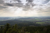istock Panoramic view from Jested mountain near Liberec in Czech republic 623354992