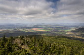istock Panoramic view from Jested mountain near Liberec in Czech republic 623355740