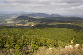 istock Panoramic view from Jested mountain near Liberec in Czech republic 623356042