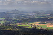 istock Panoramic view from Jested mountain near Liberec in Czech republic 623356242