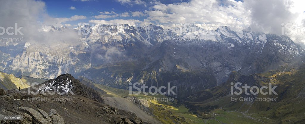 Panoramic view from Schilthorn, Switzerland royalty-free stock photo