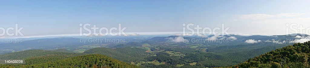 Panoramic view from Skyline Drive royalty-free stock photo
