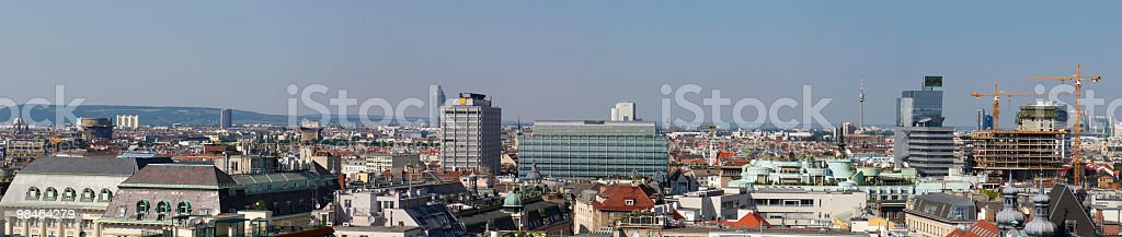 Panoramic view from the roof of St Stephen`s cathedral. royalty-free stock photo