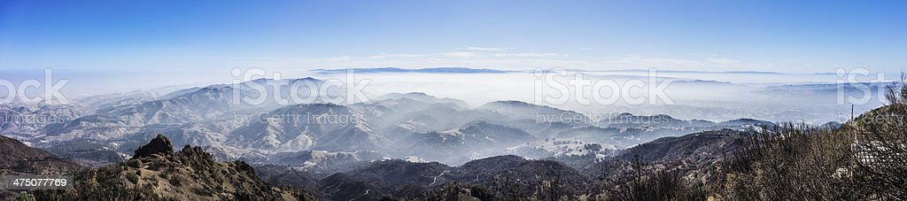Panoramic View from the Summit of Mt. Diablo stock photo