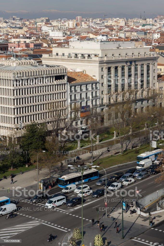 Vista Panorámica Desde La Terraza Del Palacio De Cibeles