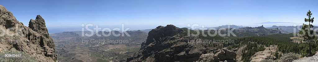 Panoramic view Gran Canaria Pico de las Nieves​​​ foto