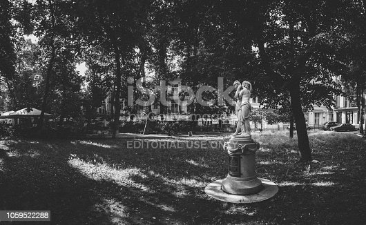 istock Panoramic view in the Odessa City square Palais-Royal in a sunny summer morning 1059522288