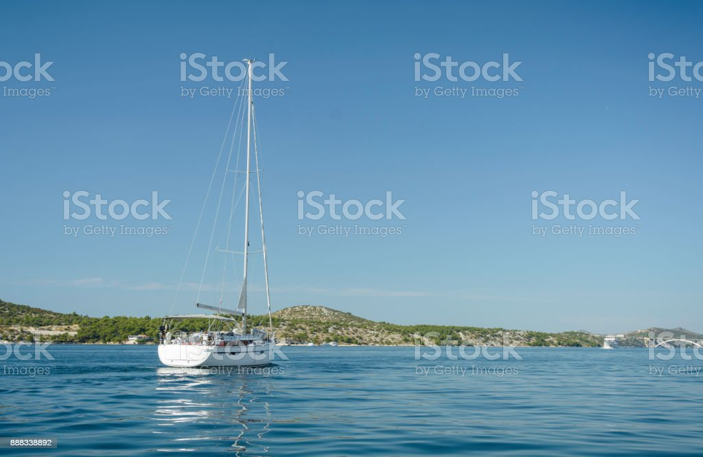 Panoramic view in the Sibenik stock photo