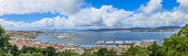 Panoramic view in Vigo from Castelo do Castro, Galicia, Spain