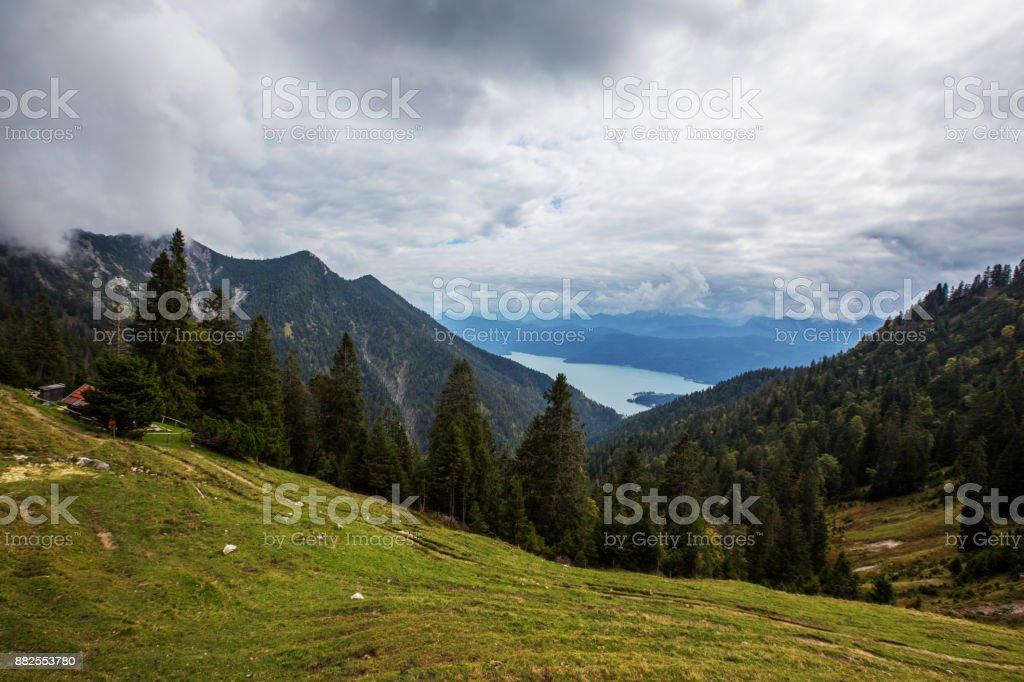 Panoramablick, Kochel, Bayern, Deutschland – Foto