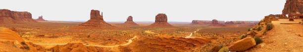 Panoramic View Monument Valley Utah Navajo Nation Recreation Area stock photo