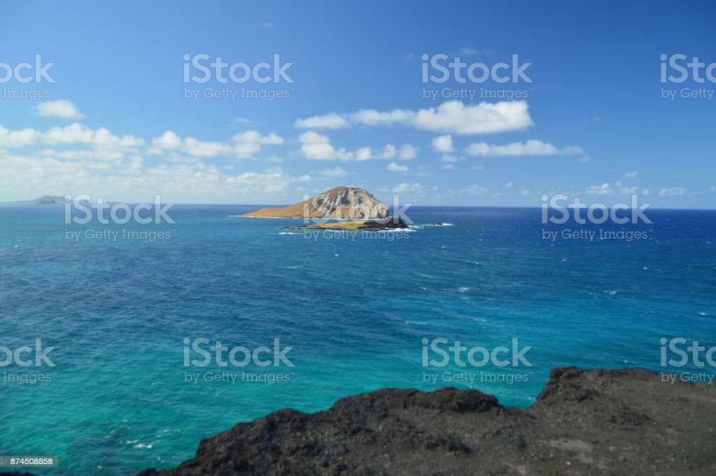 Panoramic View Of A Beautiful Islet. stock photo