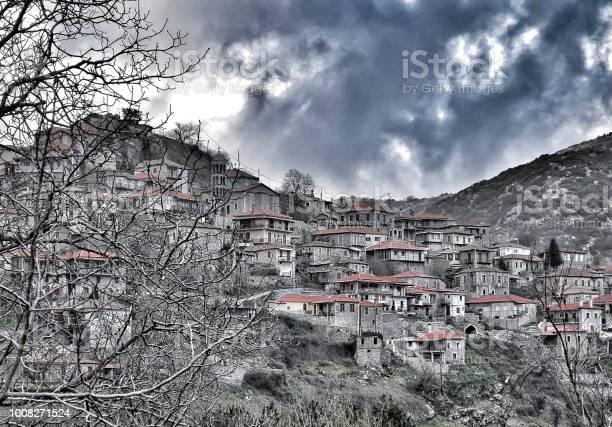 Photo of Panoramic view of a beautiful mountain village  Dimitsana, Peloponnese, Greece