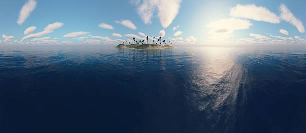 Panoramic view of a island bildbanksfoto
