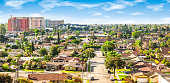 Bright and colorful image of residential area in Anaheim, Orange County, California