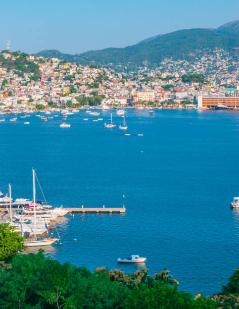 Panoramic view of Acapulco stock photo