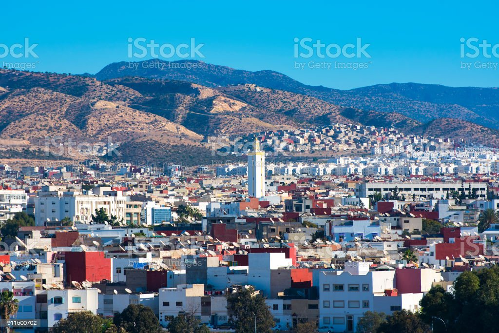Panoramic view of Agadir  in Morocco stock photo