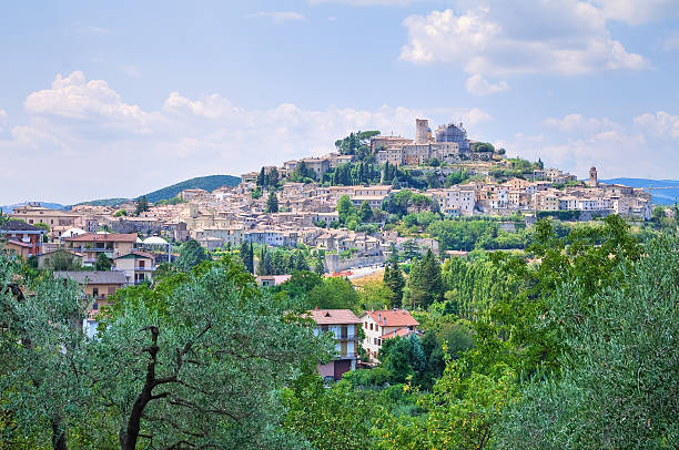 Panoramic view of Amelia. Umbria. Italy. Panoramic view of Amelia. Umbria. Italy. umbria stock pictures, royalty-free photos & images