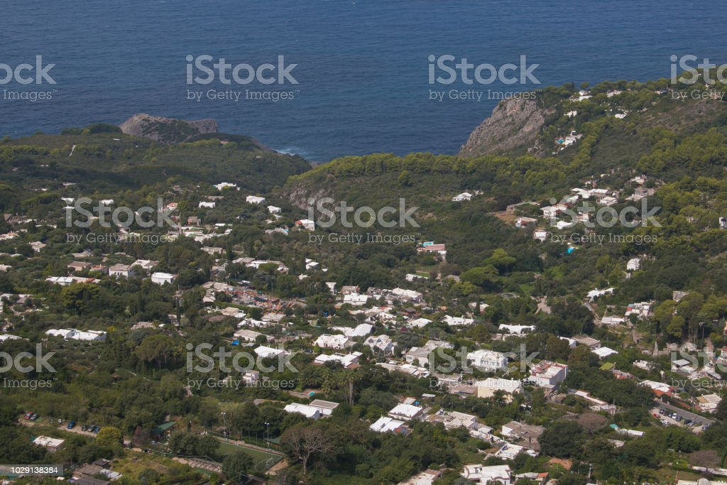 Panoramic view of Anacapri on the sea - foto stock