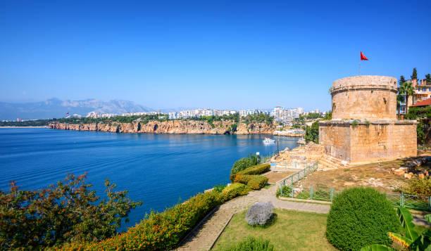 Panoramic view of Antalya city, Turkey stock photo