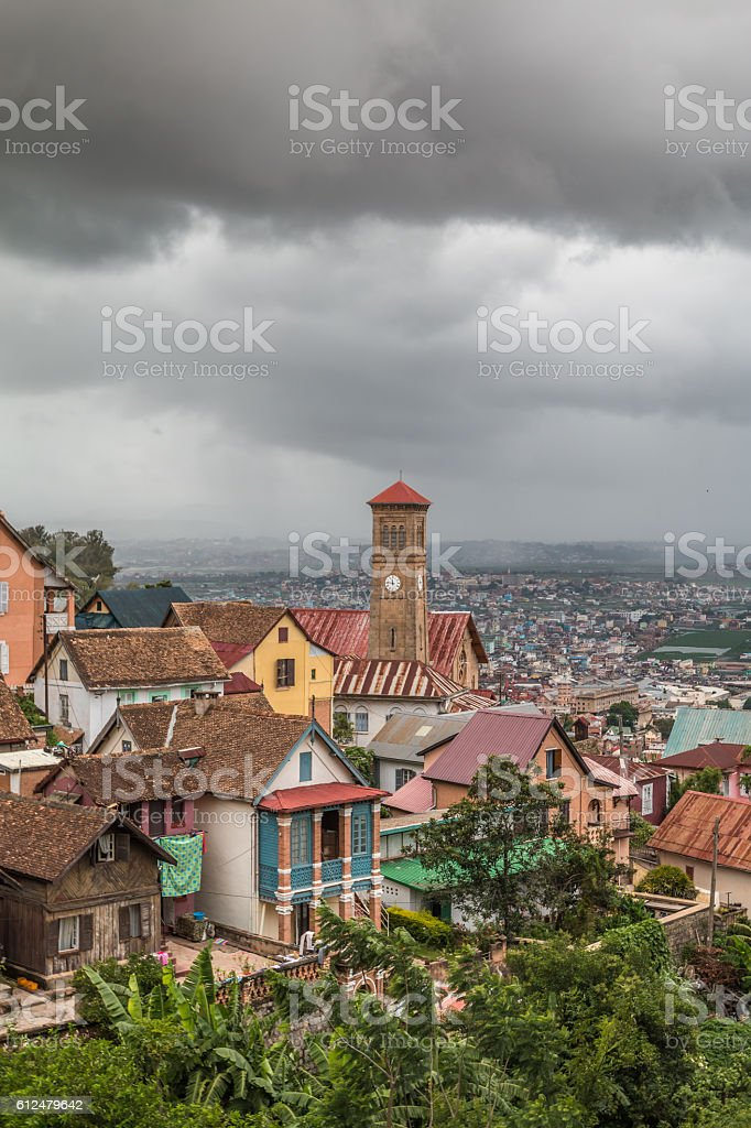 Panoramic view of Antananarivo Madagascar stock photo