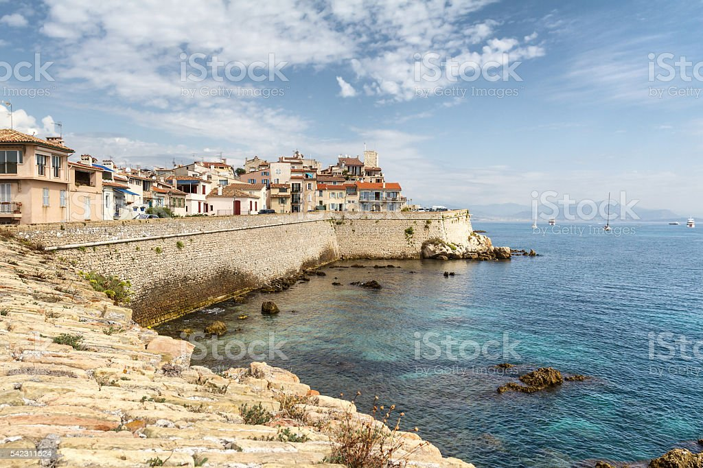 Panoramic view of Antibes - French Riviera stock photo